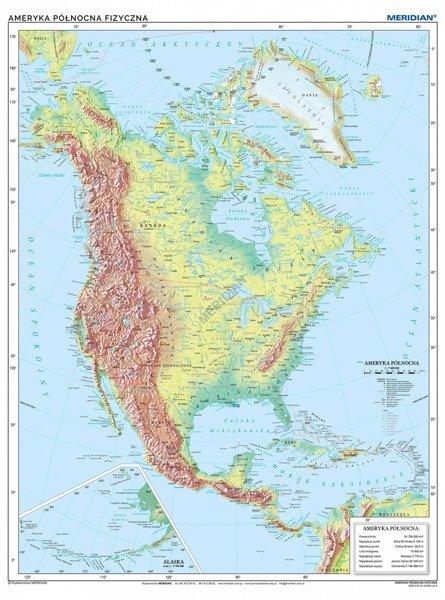 Ameryka Polnocna Mapa Fizyczna Sklep Internetowy Edumax