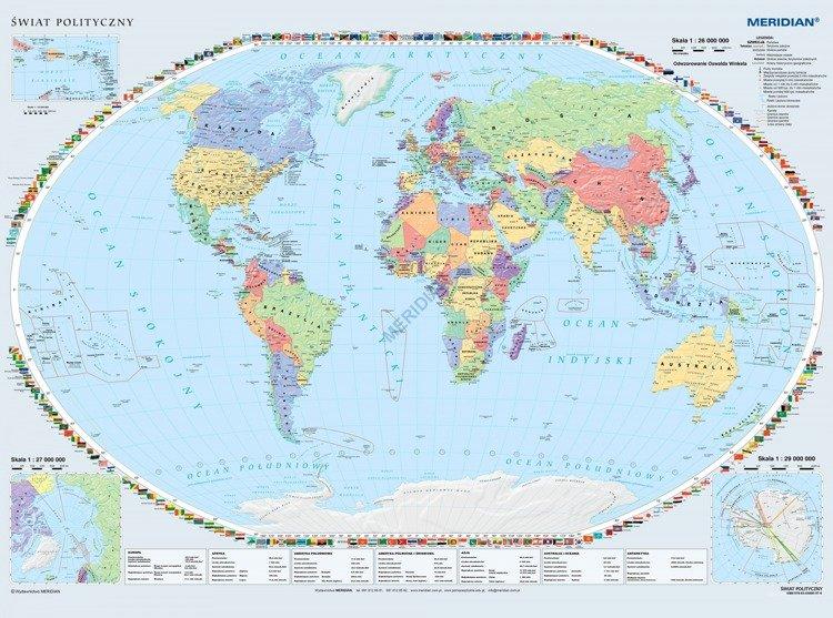 Mapa Polityczna Swiata Sklep Internetowy Edumax