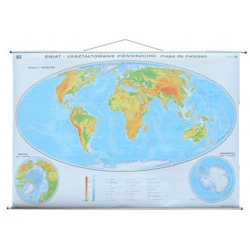Swiat Mapa Scienna Dwustronna Fizyczna Do Cwiczen Sklep